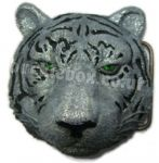 3D SIBERIAN TIGER BELT BUCKLE + display stand